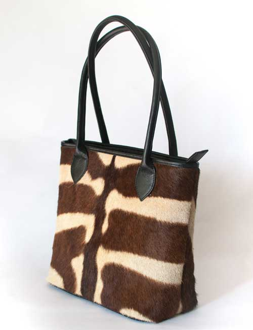 Thandi Zebra Leather Handbag