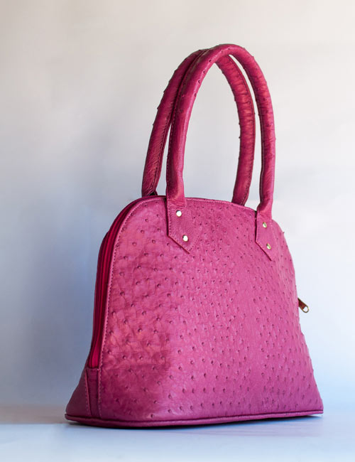 nadine-pink-ostrich-leather-handbag
