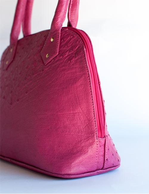 nadine-pink-ostrich-leather-handbag