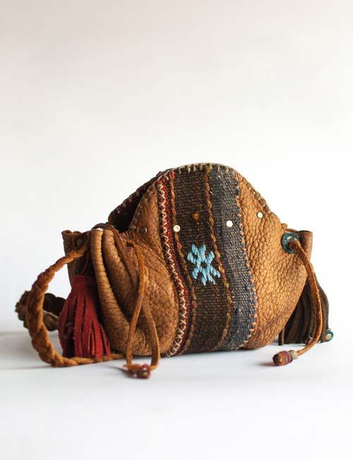Steampunk Boho Bag Leather Handmade Afrikaburn
