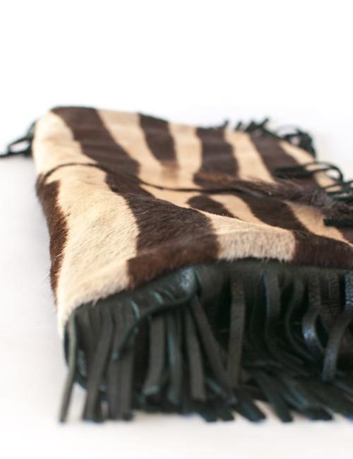 zebra-hide-leather-scatter-cushion-cover-tassels