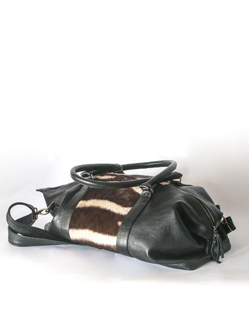 kabelo-zebra-hide-leather-overnight-bag