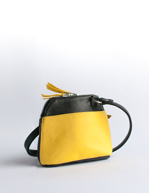 kim-leather-handbag-yellow-black-two-tone