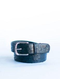ladies-leather-belt-ostrich-blue