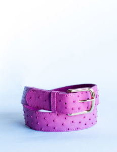 ladies-leather-belt-ostrich-purple