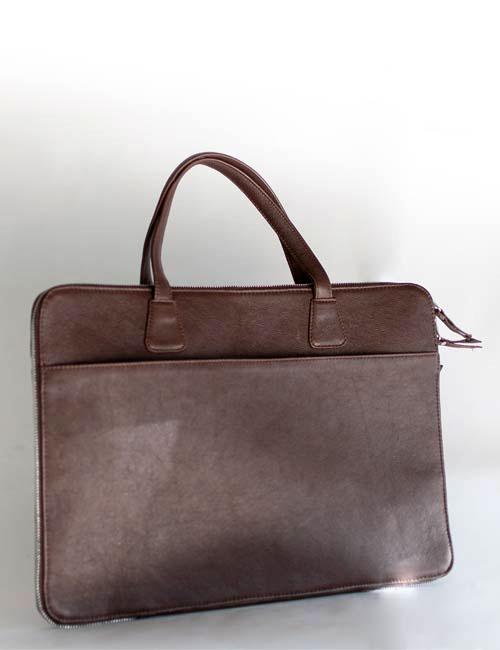Adrian Slim Leather Laptop Tablet Bag