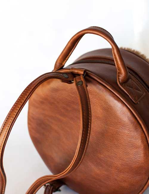 04aa6285f2 grace-round-springbok-leather-mini-backpack