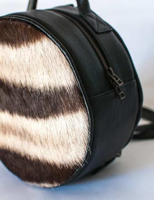 grace-round-zebra-leather-mini-backpack