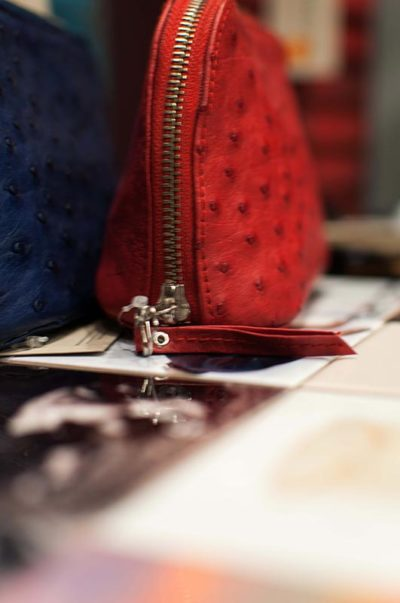 gallery-red-ostrich-leather-purse-modern-and-tribal