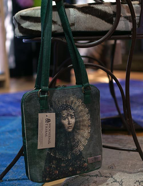 anele-green-ostrich-leather-canvas-bag-1