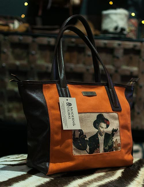linda-leather-canvas-print-orange-handbag-1