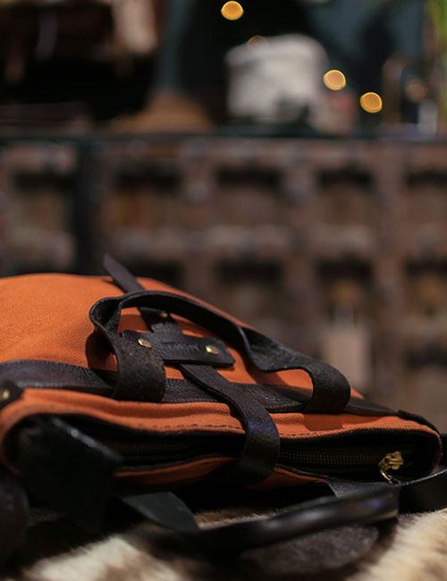 wax-canvas-orange-handbag-with-leather-straps-4