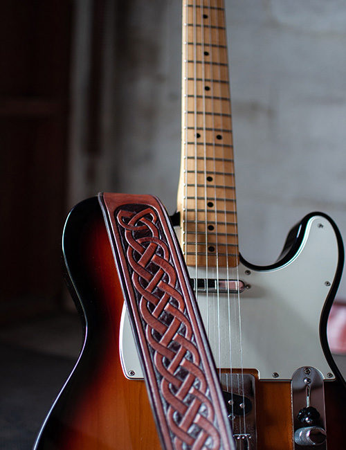 brown-leather-guitar-strap-hand-carved