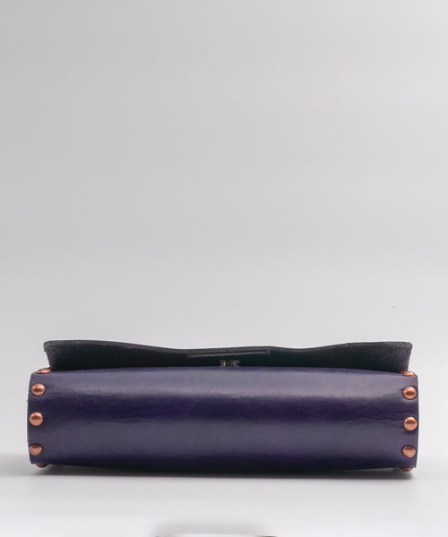 Modern-and-tribal-leather-clutch-bag-purple